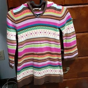 Baby gap hooded sweater dress, sz 5t